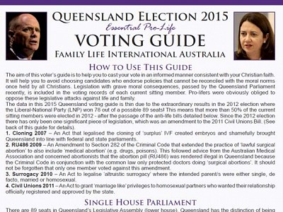 Qld Election Checklist