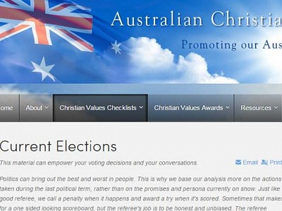 Christian Values checklist